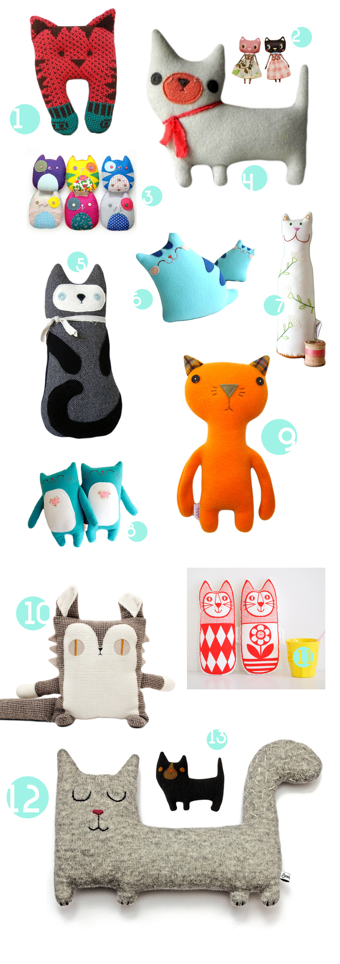 Cat plush etsy selection